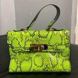BRAND NEW Lime green snakeskin mini bag